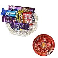SFU E Com Holi Chocolate Basket Hamper | Holi Special Chocolate Gift | Premium Chocolate Hamper | Holi Pooja Thali | Pack of Chocolate Box-1 | 31