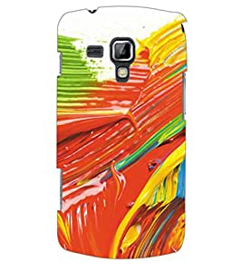 ColourCraft Colourful Brush Strokes Back Case Cover for SAMSUNG GALAXY S DUOS 2 S7582