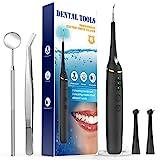 kit Pulizia Denti Pulizia Denti Pulizia Dentale kit Breett Denti Sbiancanti Dentale Pulizia dei Denti Rimuovere Macchie Ostinate dei Denti e Impurità y Residuo 3 Teste Luce Led