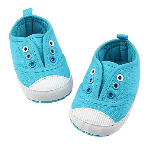 Fire Frog  Baby Spring and Autumn Shoes, Baby Jungen Lauflernschuhe Hellblau