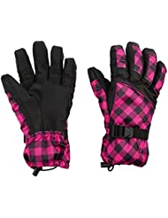 Winter Ski Gloves Women Outdoor Sports Thermal Gloves Snowboard Snowmobile Adjustable Straps Windproof Waterproof