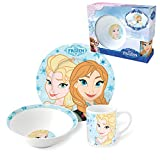 Disney Frozen Porzellan Kinderservice mit Tasse Teller Müslischüssel