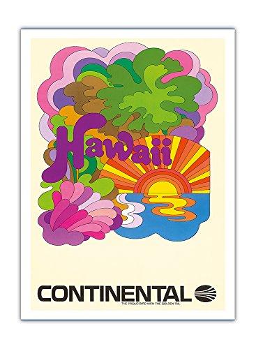 hawaii-continental-airlines-psychedelische-kunst-vintage-retro-fluggesellschaft-reise-plakat-poster-