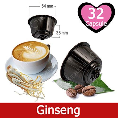 32 Capsule Caffè Kickkick al Ginseng Compatibili Nescafè Dolce Gusto