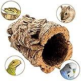 Schöne Korkröhre für Nager, Chinchilla, Hamster, Zwerghamster, Degu oder Reptilien