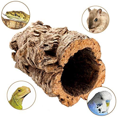 Schöne Korkröhre für Nager, Chinchilla, Hamster, Zwerghamster, Degu oder Reptilien -