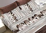 Bettwäsche aus 100% Baumwolle Muster Hund Singolo grau
