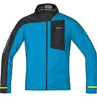GORE WEAR Homme Veste de Course Coupe-Vent à Capuche, Gore R7 Gore Windstopper Light Hooded Jacket, Taille: S, Couleur: Bleu/Noir, 100105