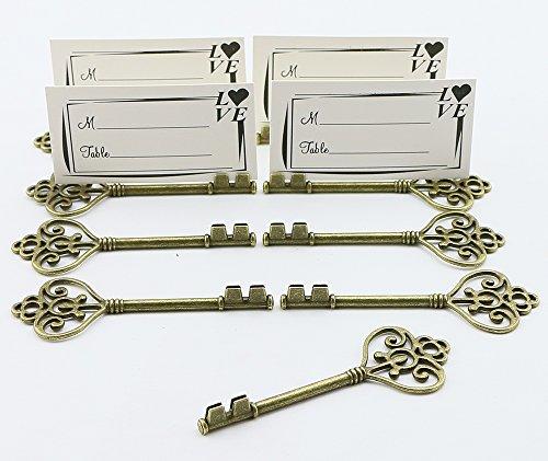 40pcs pequeño Vintage esqueleto clave con forma de boda Favor marco d