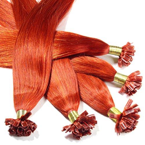 Just beautiful hair 200 extensions u-tip cheratina capelli veri remy indiani 1g 50cm - #130 biondo ramato, 1x200 ciocche