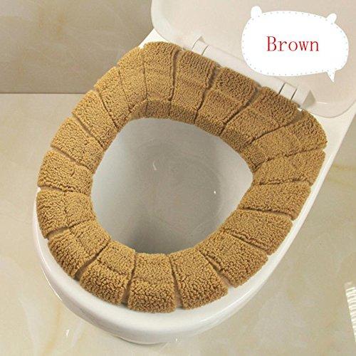 TS-nslixuan Soft WC WC Sitz Deckel Cute Abdeckung Oben Wärmer Waschbar Bad WC Produkt Baumwolle Sockel Pan Kissen 7 Farbe, 3 (Gepolstert Sockel)