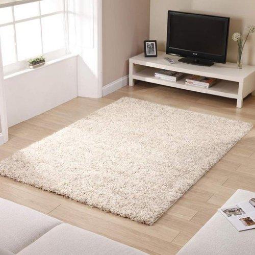 shaggy-rug-ivory-963-plain-5cm-thick-soft-pile-120cm-x-170cm-4ft-x-5ft-6-modern-100-berclon-twist-fi