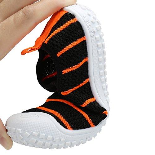 Sommer Freizeit Gestrickte Schuhe Slip-on Sneakers Zehenschutz Weiche Rutschfeste Loafer Mädchen Jungen Kinder Kleinkind Gelb