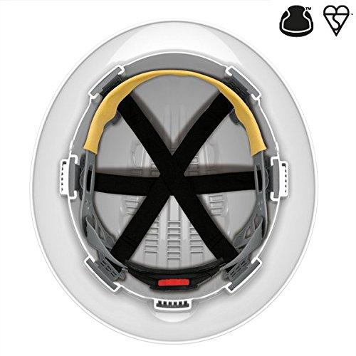 Evo 6100 Full Brim Construction Helmet in WHITE,