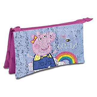 Peppa Pig portatodo Triple Lentejuelas