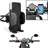 Guance Universal Mobile Holder/Mobile Phone Holder with Side Clamps 360 Rotatable for Royal Enfield Classic 350 BS4 Model