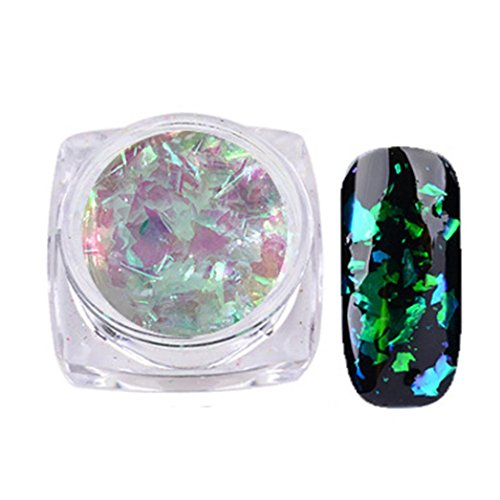 Hot Spiegel Nagel Nail Nail Art Gorgeous Chameleon Mirror Powder Manicure Chrome Pigment Glitters 0.2 g Von Xinan (❤️, E)