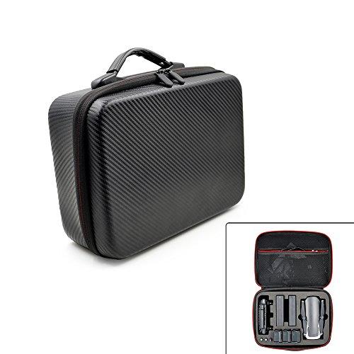 Wasserdichte PU Koffer-Aufbewahrungstasche, tragbare Hartschalentasche Tragetasche Reisetasche Handtasche für DJI Mavic Air Drohne und Mavic Air Zubehör 29 * 21 * 11cm Schwarz