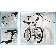 Pygex (TM) de pared del estante de la bici de la bicicleta de pared colgante gancho de la exhibici¨®n del estante del soporte de la bicicleta de la bici de elevaci¨®n montado techo del alzamiento de la suspensi¨®n de almacenamiento en rack Polea