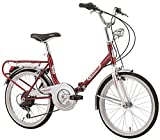Klapprad Faltrad Florence Old Style 20 Zoll 6 Gang Shimano Weiß Rot