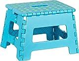 Kigima Tritthocker klappbar, Klapptritt Klapphocker aus Kunststoff Small 29x22x22cm blau