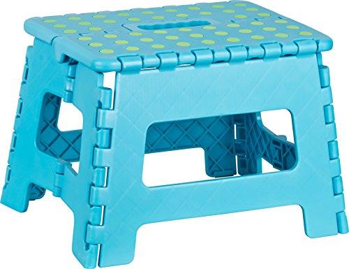 Kigima Tabouret banqueta plegable en Plastique Petit 29x22x22cm Bleu