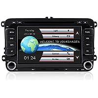 """Freeauto Reproductor de DVD, 2 Din, 7"""", para coche, incluye radio DVD, bluetooth, cámara"""