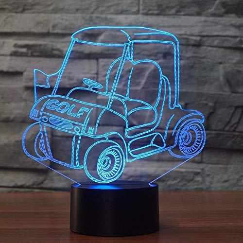 Golf auto led 3d nachtlicht warenkorb 7 farbwechsel usb touch schalter lampe schlafzimmer dekoration 3d tischlampe kind kreative geschenk