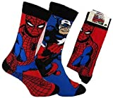 Herren Batman, Marvel Avengers, Minions Superheld Socken Offiziell D.C.Marvel minionslicensed mit Etikett 6 Styles - 2er Packung Spiderman und Captain America, UK 6-11 EUR 39-45