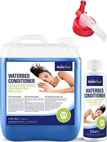 Wasserbett Conditioner inkl. Ausgießer & Flasche für Konditionierer - 5 Liter Kanister Conditionierer Wasserbettenpflege kompatibel mit allen Wassermatratzen