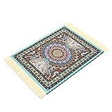 Tutoy 28 Cm X 18 Cm Hellblau Bohemia Style Persian Teppich Mouse Pad Für Desktop Pc Laptop Computer