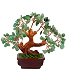 Feng Shui-en pierre de Jade naturelles Argent Gem Tree Bracelet AA344 W Rouge