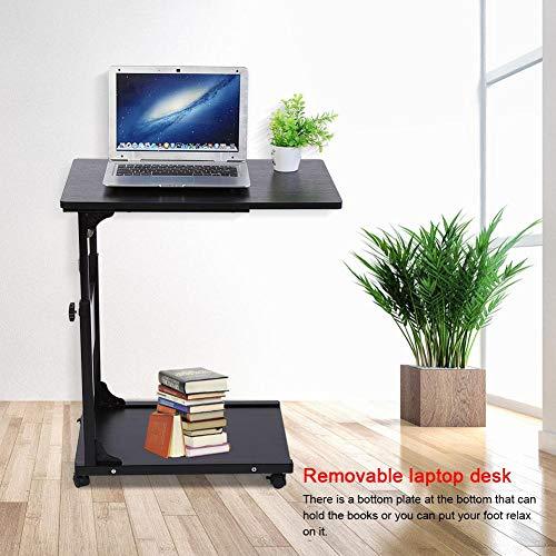 Ajustable Mesa de Ordenador Portatil con Ruedas Mesas para Portatiles Stand de...