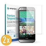 smartect HTC One Mini 2 Panzerglas Folie [2 Stück] - Displayschutz mit 9H Härte - Blasenfreie Schutzfolie - Anti Fingerprint Panzerglasfolie