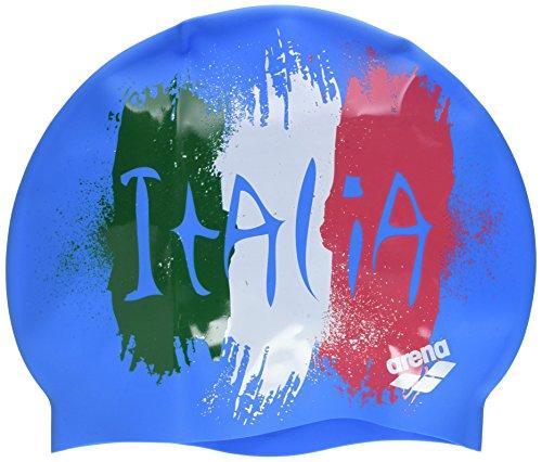 Arena Silicona Print 2 Gorro de Natación, Hombre, Multicolor (Flag / Italy), UNI