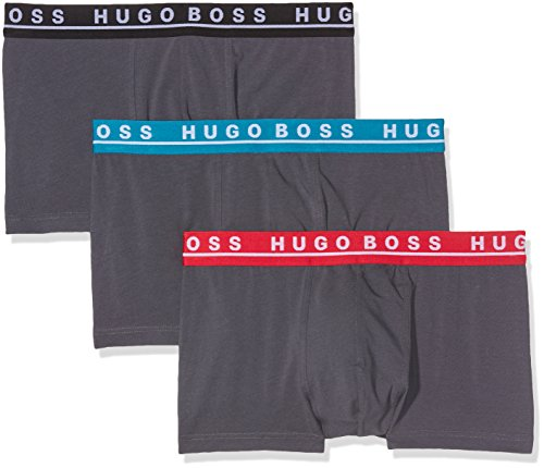 Hugo Boss Herren Trunk 3P CO/EL Boxershorts (3er Pack) Schwarz (Open Miscellaneous 963)