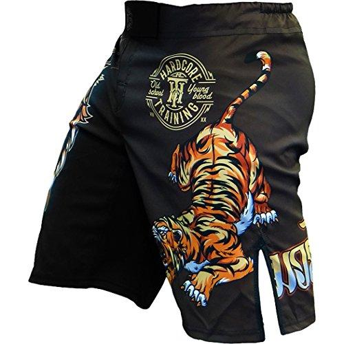 Hardcore-Training-Shorts-Men-Tiger--Cage-Fight-BJJ-MMA-UFC