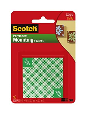 Scotch Permanent Mounting Squares - Pack of 1, 96 Squares - low-cost UK light shop.