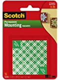 Scotch Permanent Mounting Squares - Pack of 1, 96 Squares