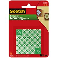 Scotch 111-SML Permanent Mounting Squares - Pack of 1, 96 Squares