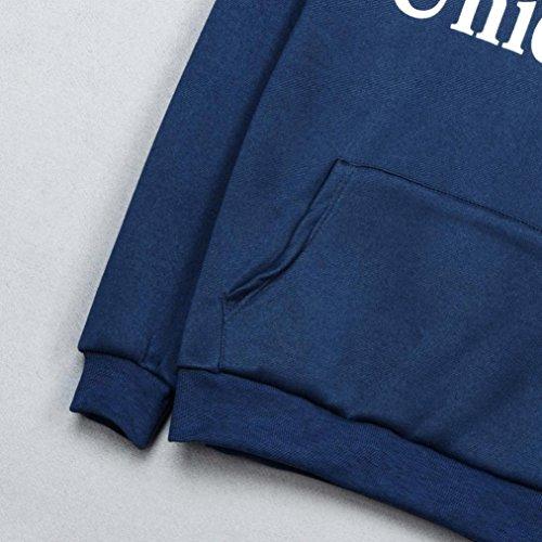 Bonjouree Sweatshirt Licorne, Sweats à Capuche de Licorne Femme Pull Ados Fille Hiver Bleu