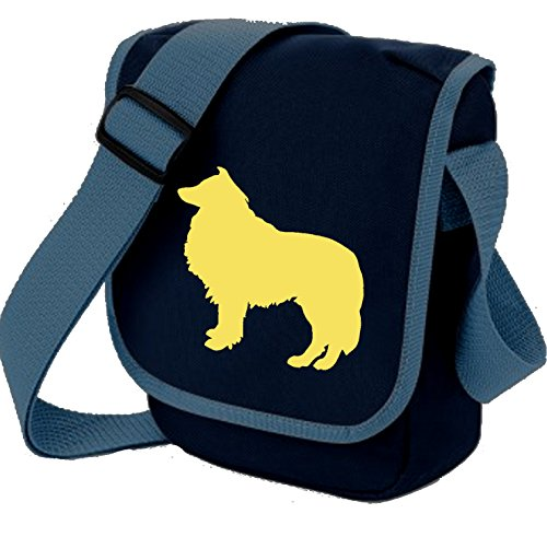 Bag Pixie - Borsa a tracolla unisex adulti Fawn Dog on Blue