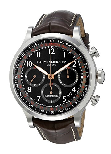 baume-and-mercier-capeland-black-dial-brown-leather-mens-watch-moa10067