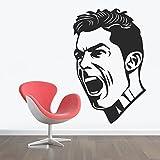 StickMe 'Cristiano Ronaldo Wall Sticker'- SM 123 ( PVC Vinyl - 80cm X 50 Cm )