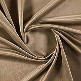 Brown Plain Velvet Curtain or Upholstery Fabric - More