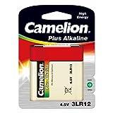 Batterie Camelion 3R12 Flachbatterie 4,5V 1er Blister, Alkaline, 4,5V