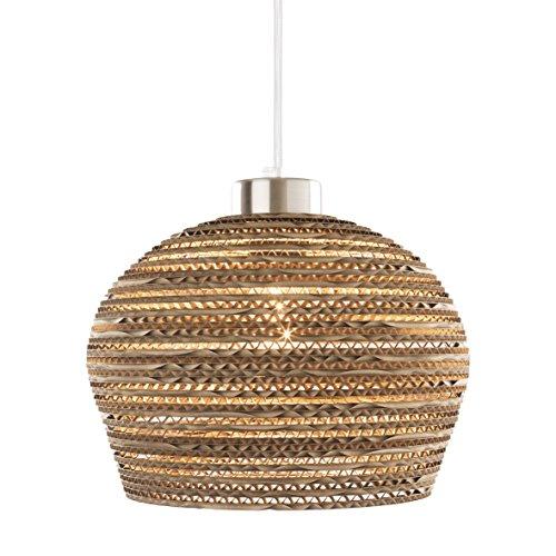 Yarussi Alvarado FLORENCIA - Lámpara de suspensión, 60 W máximo recomendado, cable entelado de color blanco