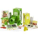 Genius Nicer Dicer Magic Cube inkl. Nicer Dicer Magic Cube Gourmet | 21 Teile | Obst- und Gemüseschneider | Bekannt aus TV | NEU