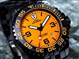 DETOMASO Herrenuhr Automatik Edelstahlgehäuse Edelstahlarmband Saphirglas SAN MARINO Automatik Taucheruhr Trend orange/schwarz DT1007-E - 9