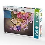 Strauß aus Freesien, Tulipen, Hahnenfüßen und Hyazinthen 1000 Teile Puzzle Hoch